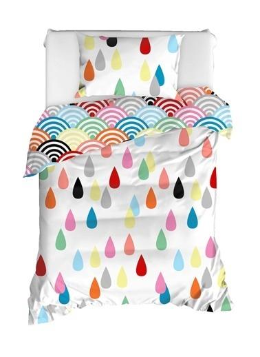 EnLora Home %100 Doğal Pamuk Nevresim Takımı Tek Kişilik Vendula Mixrenk Renkli